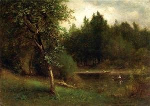 George Inness - River Landscape