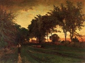 George Inness - Evening Landscape