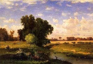 George Inness - Hackensack Meadows  Sunset