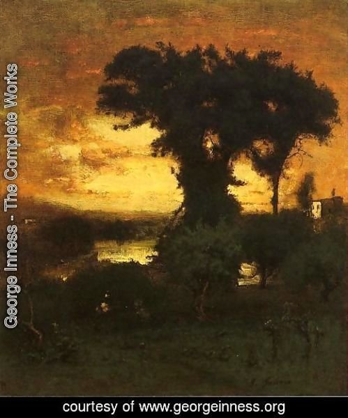 George Inness - Afterglow