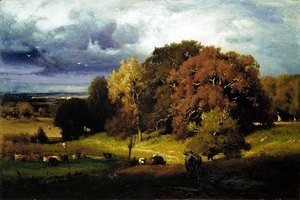 George Inness - Autumn Oaks