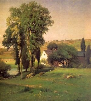 George Inness - Old Homestead  (detail) 1877