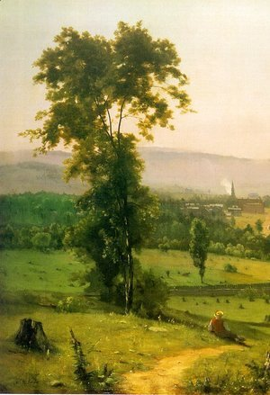 George Inness - The Lackawanna Valley (detail) 1855